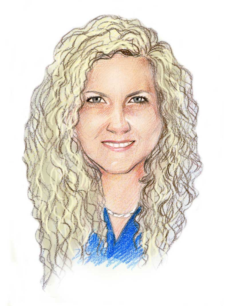caricature of Michelle Graham of Solar Storage Solutions Townsville