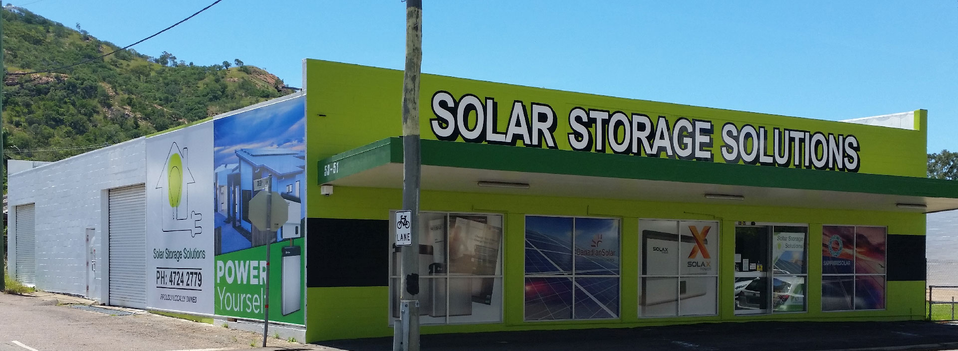 Solar Storage Solutions shop front in West End Townsville