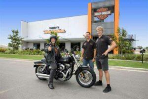 SunCity Harley shop front a solar townsville customer