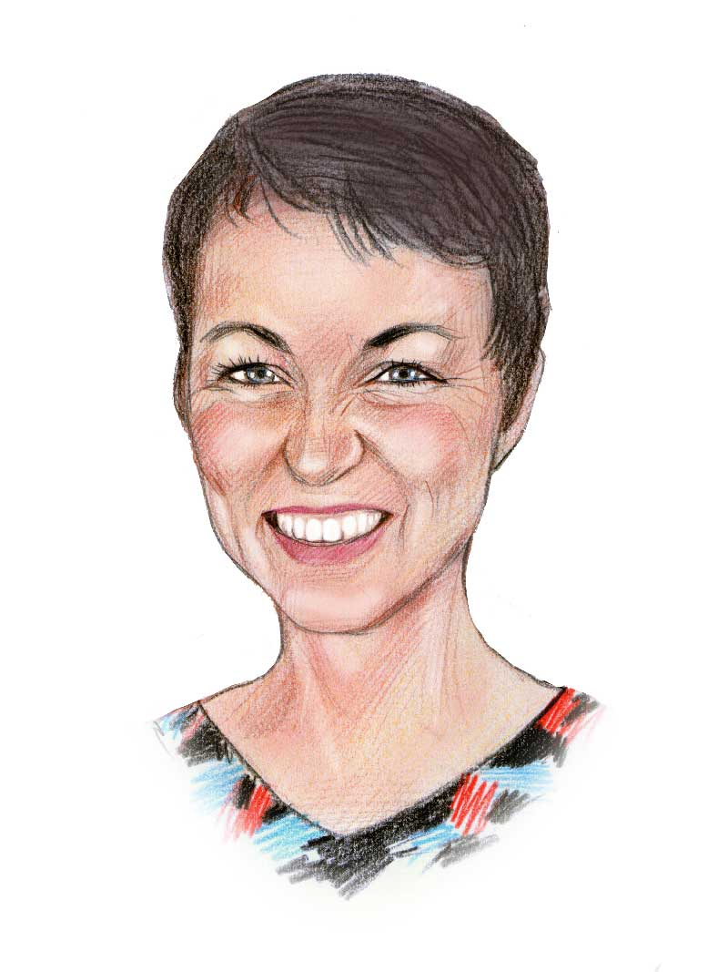 caricature of Vicki Jago of Solar Storage Solutions Townsville
